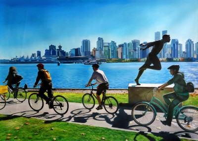Bikes along the Stanley Park Seawall
