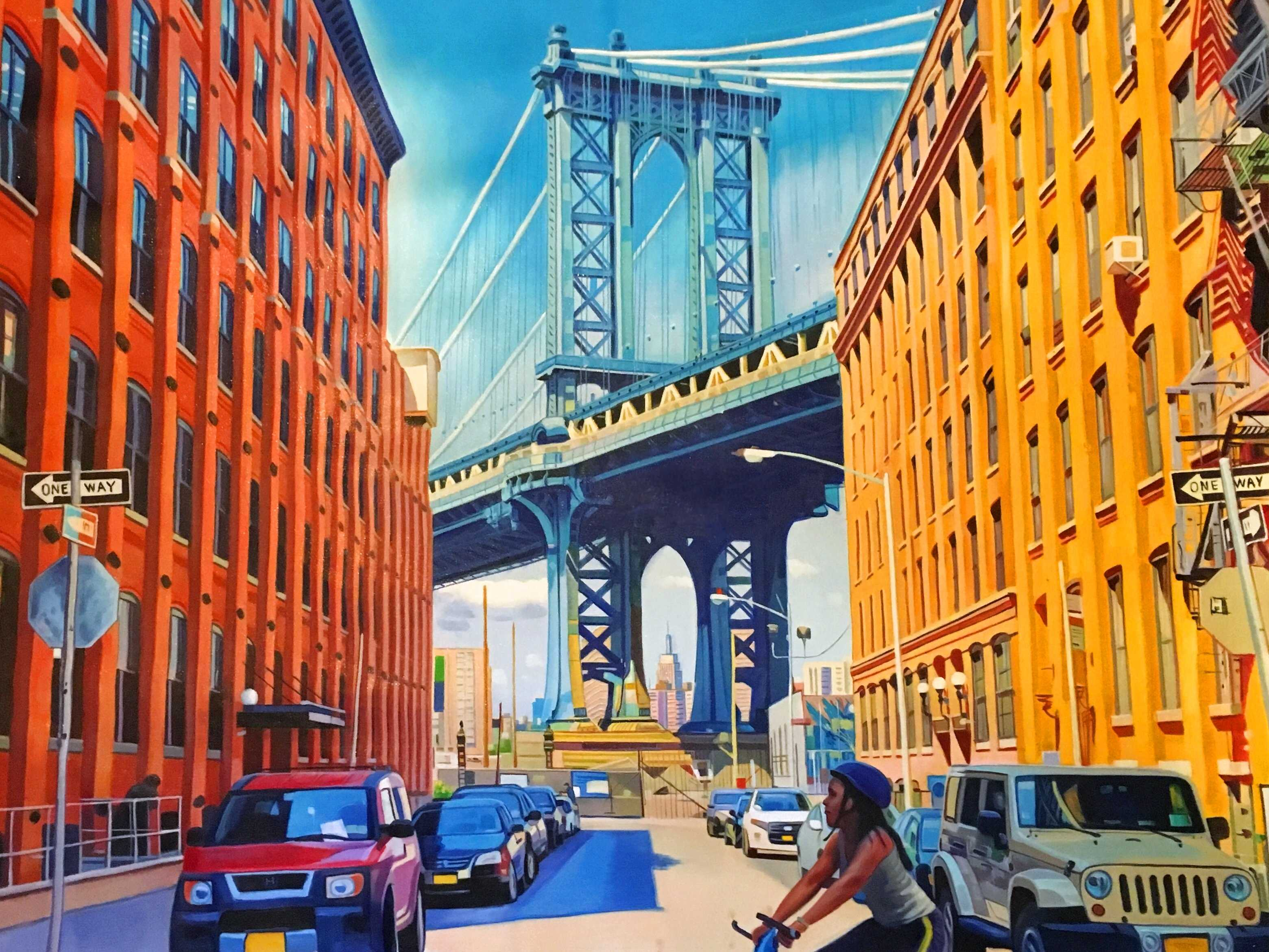 Manhattan Bridge from Washington and Water Street