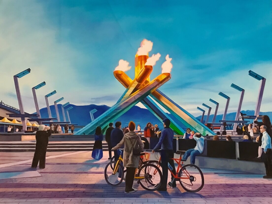 Olympic Cauldron at Jack Poole Plaza